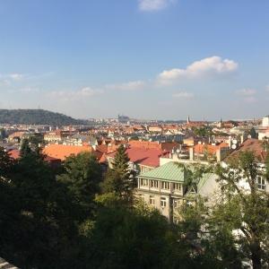 Blick auf die Stadt von der Burg Vyserad