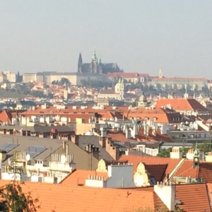 Blick auf die Prager Burg den Hradschin